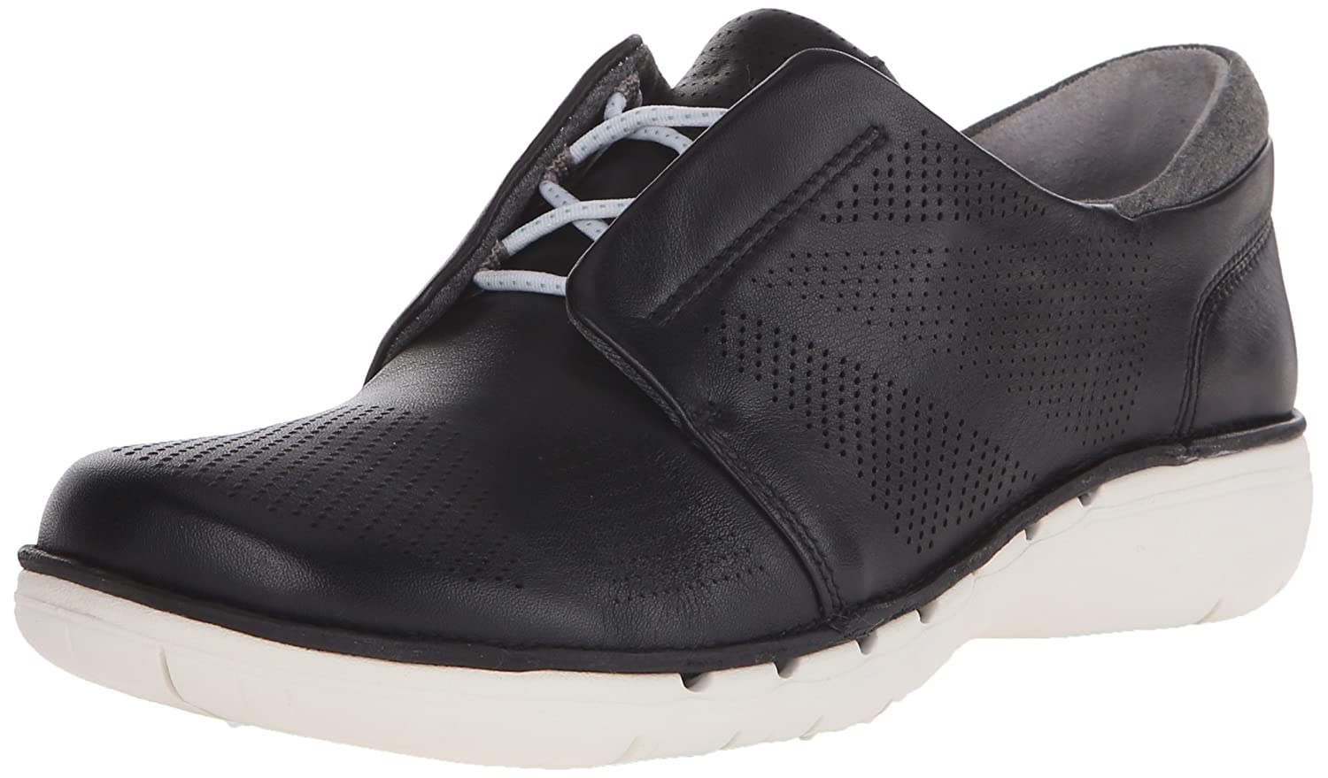 CLARKS Women's UN Voltra Walking Shoe B011VI5YFK 9 W US|Black Leather