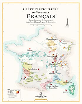 carte des vins france Carte des Vins de France (50 x 70 cm): Amazon.fr: Cuisine & Maison