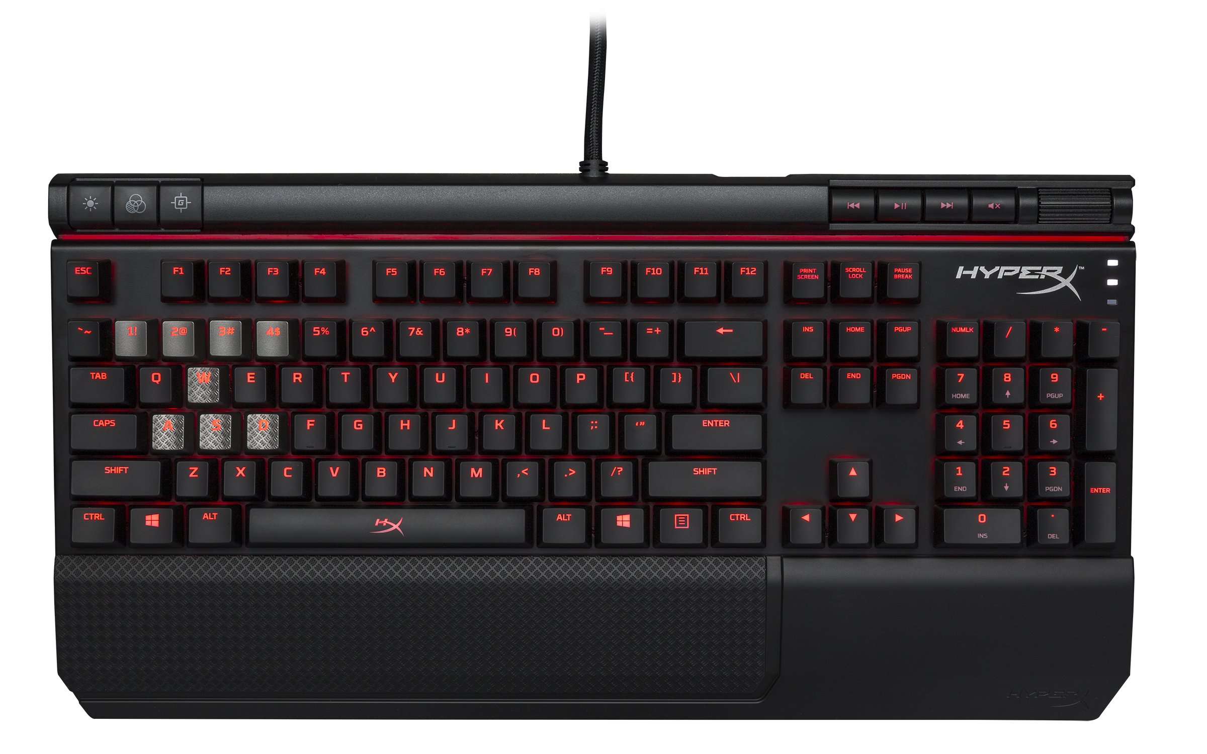 HyperX Alloy Elite Mechanical Gaming Keyboard, Cherry MX Red, Red LED (HX-KB2RD1-US/R1) by HyperX (Image #2)