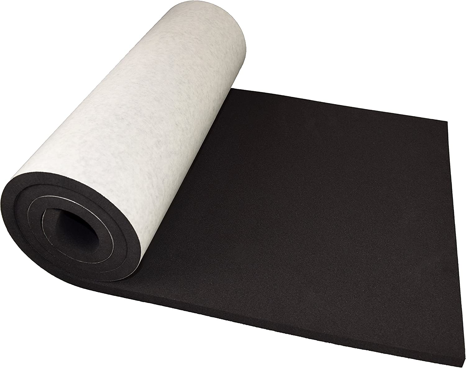 "XCEL Extra Large Marine Roll, Closed Cell Neoprene Rubber with Adhesive, Size 60"" x 16"" x 1/2"", Easy Cut Material, Water and Weather Resistant, Made in USA"