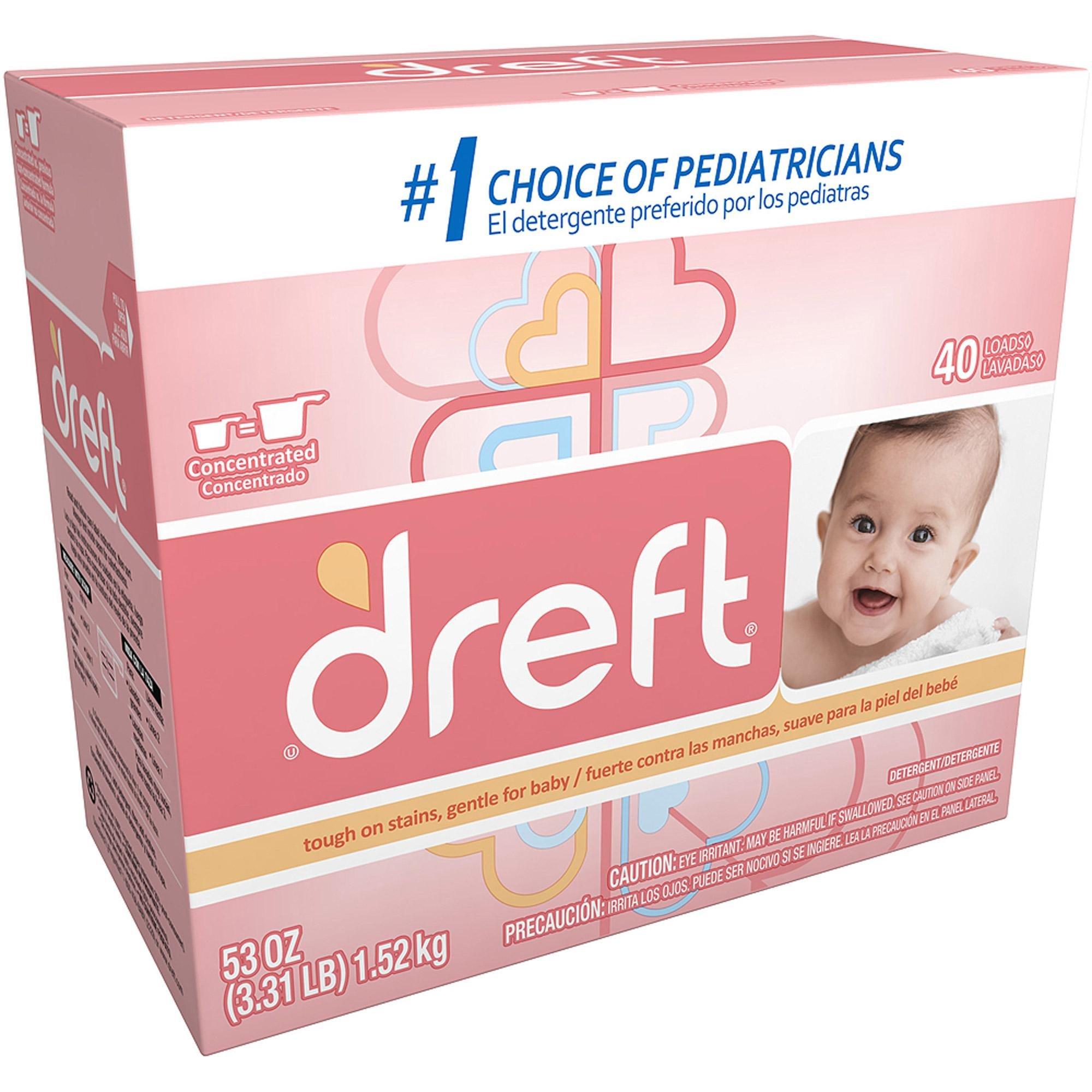 Dreft Baby Original Scent Powder Detergent 40 Loads 53 OZ