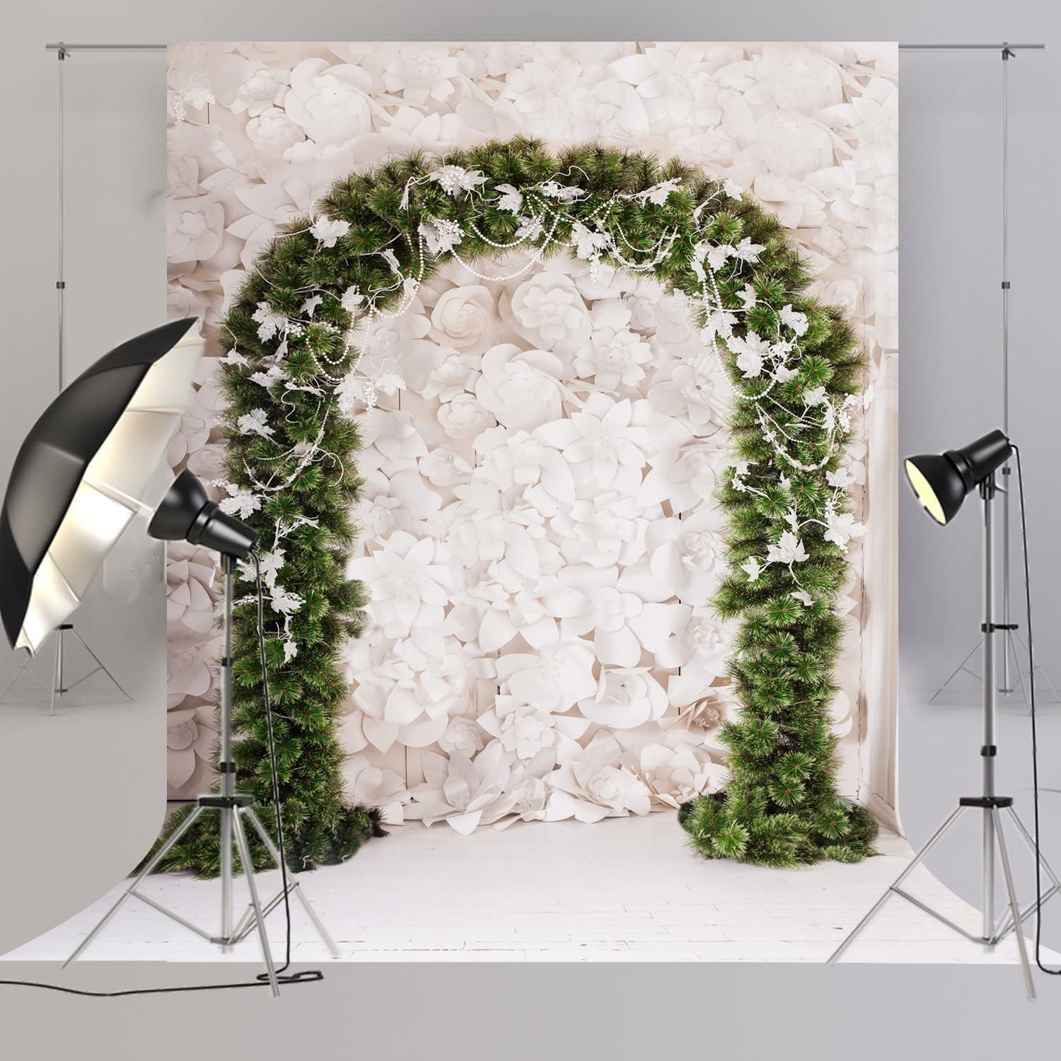 6x6FT Vinyl Photography Backdrop,Tree of Life,Heart Shaped Blossom Background for Graduation Prom Dance Decor Photo Booth Studio Prop Banner