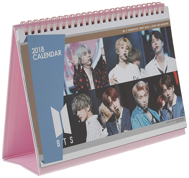 BTS Bangtan Boys Desk Calendar with Mini photo cards with Key ring, Instagram Photo card