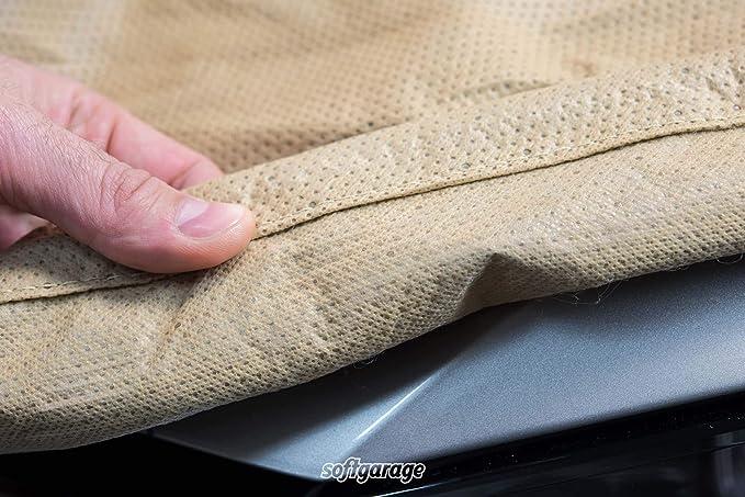 Softgarage 3 Lagig Beige Indoor Outdoor Atmungsaktiv Wasserabweisend Car Cover Vollgarage Ganzgarage Autoplane Autoabdeckung 105040 A000052 Auto