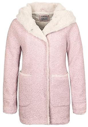 Sublevel Damen Mantel in Wolloptik mit Teddyfell und Kapuze  Amazon.de   Bekleidung 7d2db2ccdf