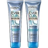 L'Oréal Paris Hair Care EverCurl Sulfate Free Shampoo & Conditioner Kit, Hydrates...
