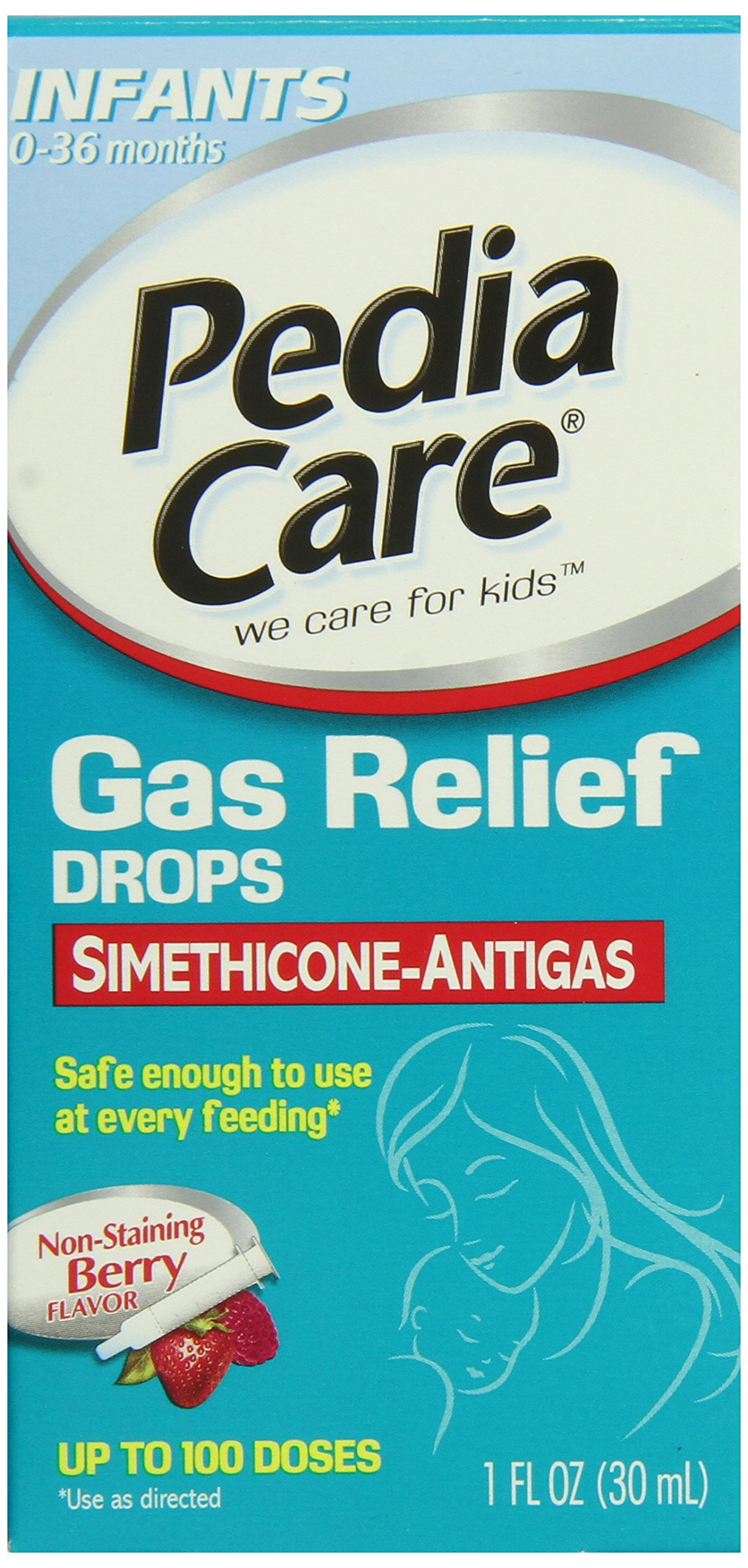 Pediacare Infant Non-Staining Gas Relief Drops, Berry Flavor, 1 Fluid Ounce
