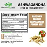 Organic Ashwagandha 2,100 mg - 100 Vegan Capsules