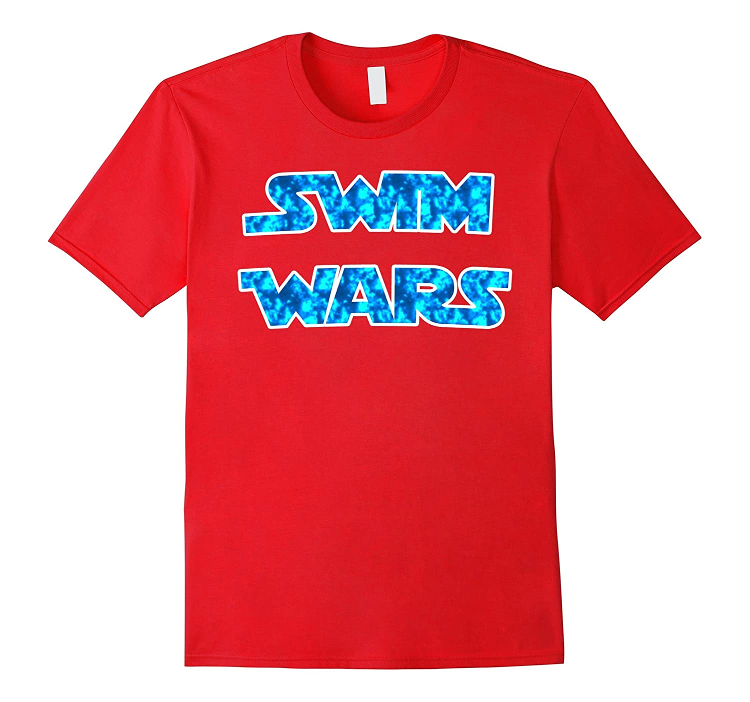 Classic Popular Swim Wars T-shirt with Swimming Water Colors-RT