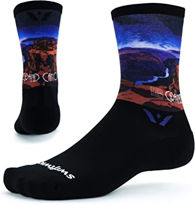 Swiftwick VISION SIX IMPRESSION Running and Cycling Socks