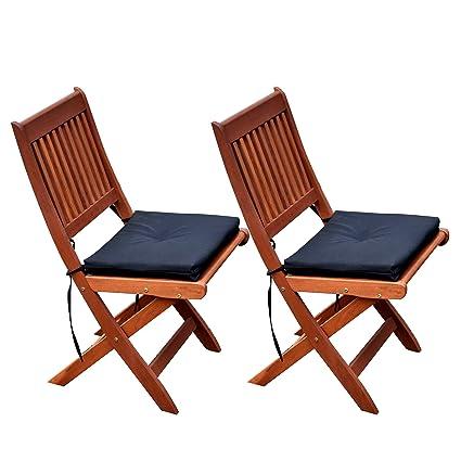 CorLiving PEX 369 C Miramar Hardwood Outdoor Folding Chairs (Set Of 2)
