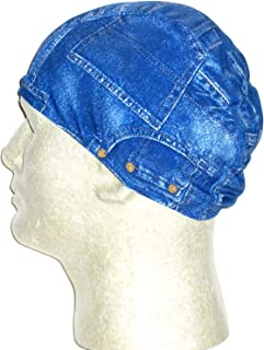 product image for Unisex Blue Jean Pockets Lycra Swim Cap