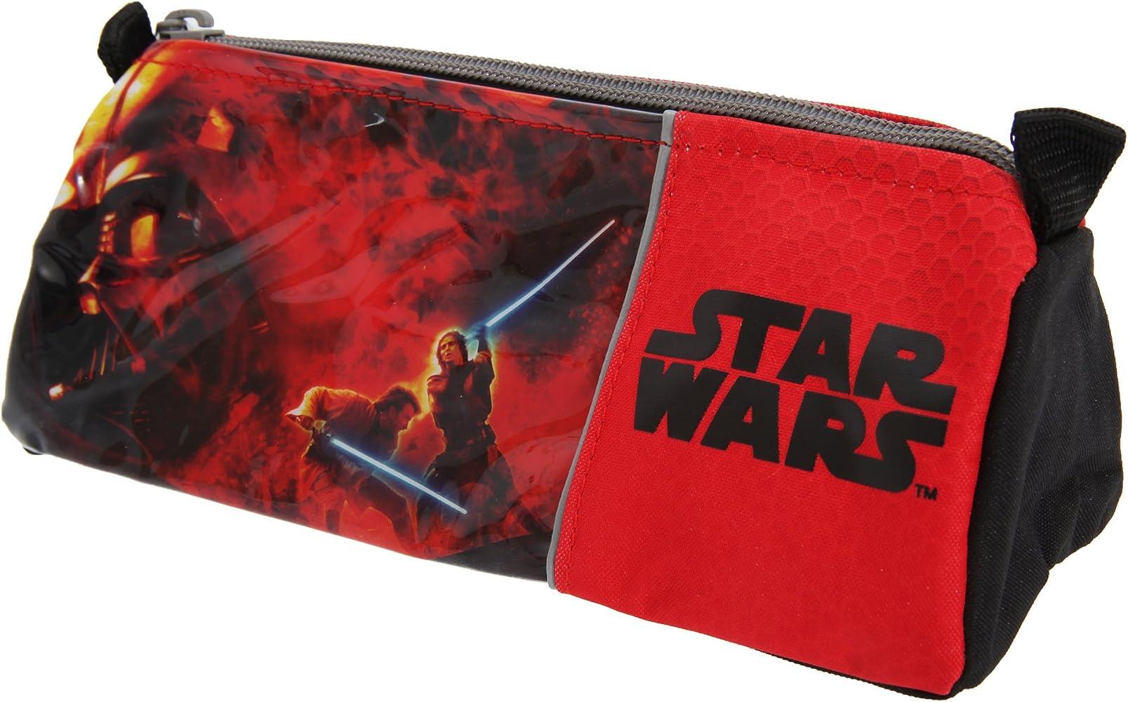 Star Wars - Estuche oficial para lapiceros y bolígrafos Modelo Zip Up para niños (8 x 7 x 21cm/Rojo/Negro): Amazon.es: Hogar