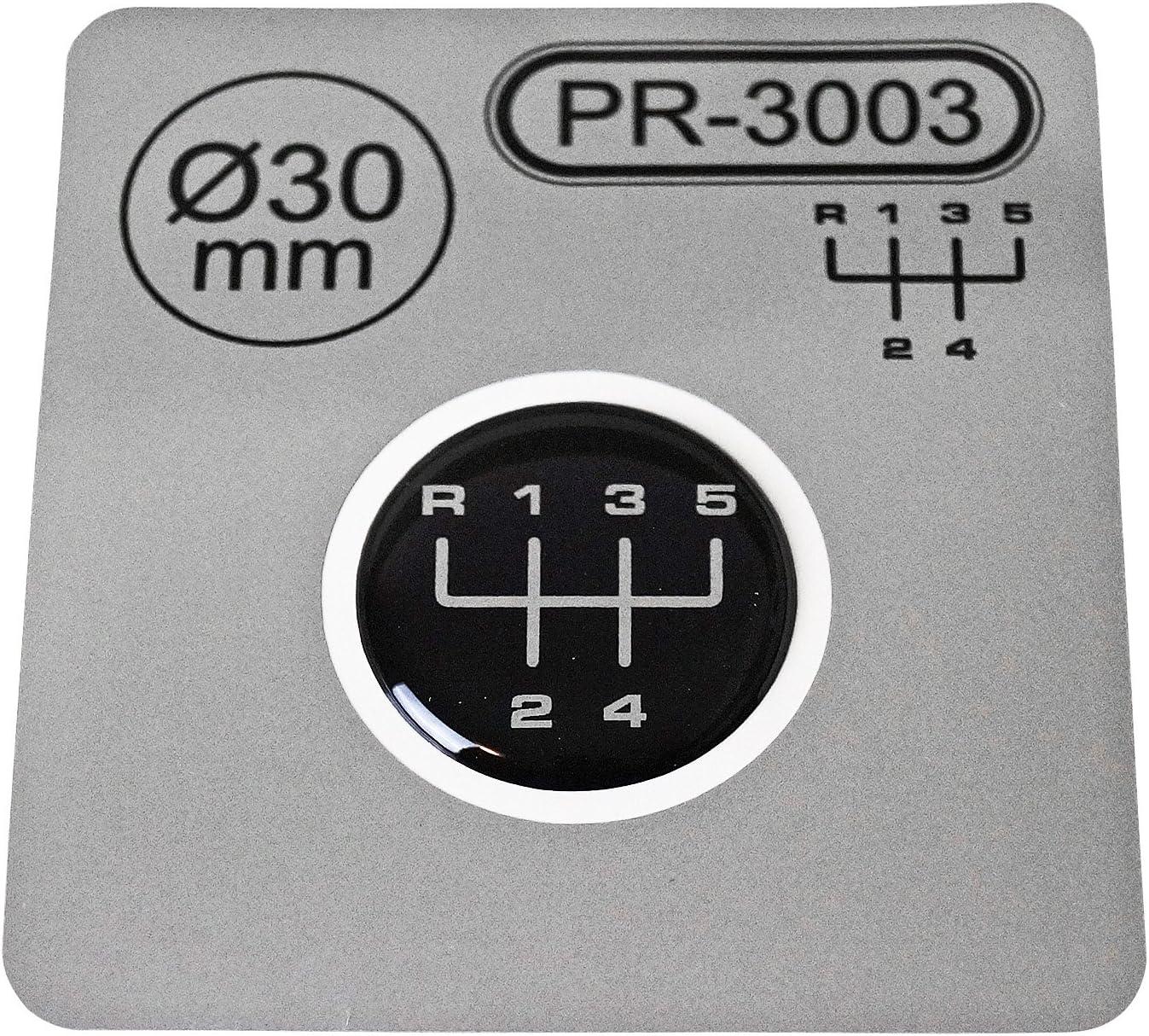 1/x schalthebel autocollant Diam/ètre = 30/mm 5/vitesses Pommeau de levier embl/ème silicone Stickers mod/èle 1