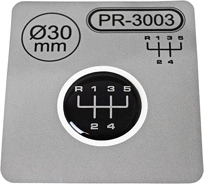 1x Schalthebel Aufkleber Durchmesser 30 Mm 5 Gang Schaltknauf Emblem Silikon Sticker Schema 3 Auto