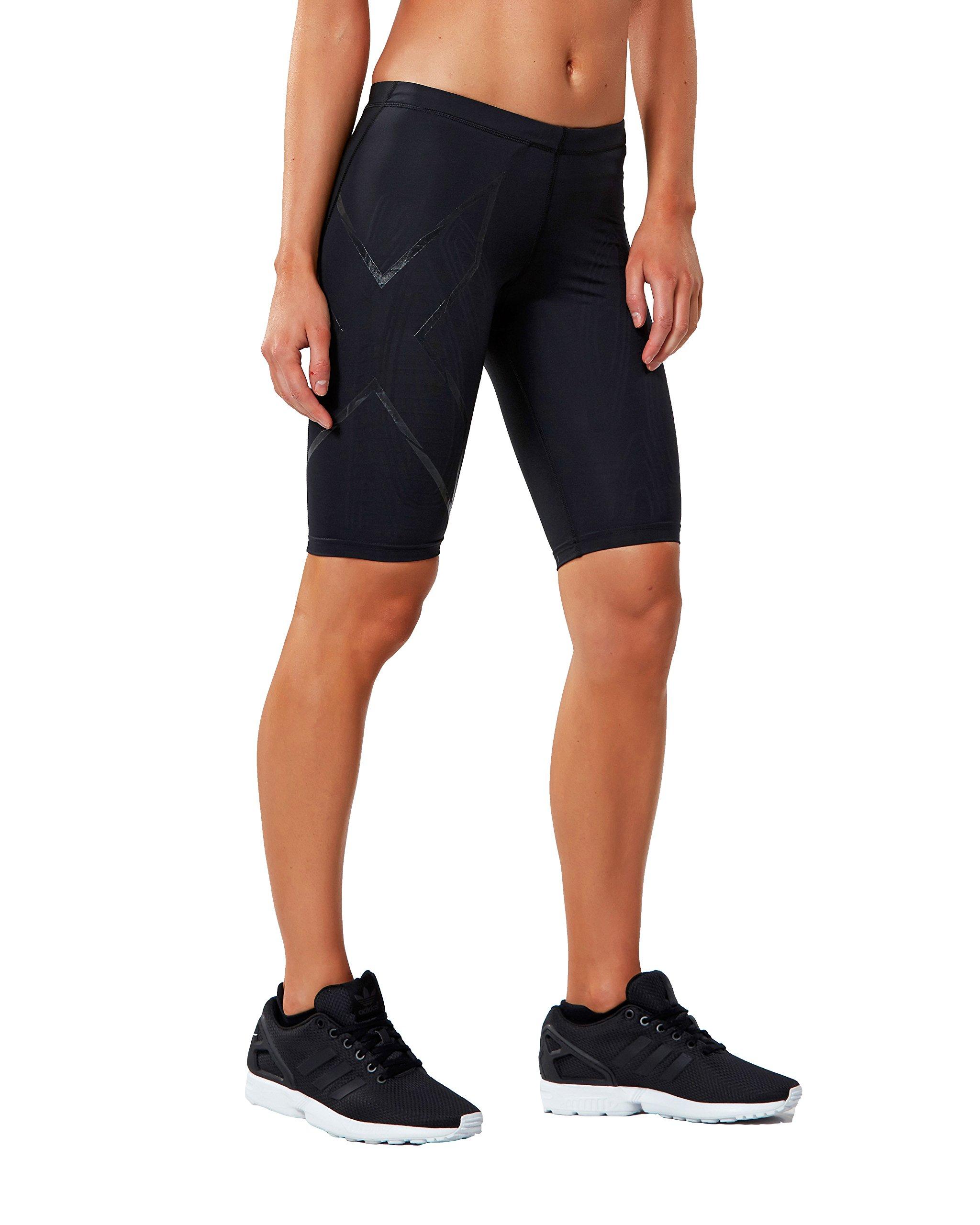 2XU Women's Elite MCS Compression Shorts, Black/Nero, Large