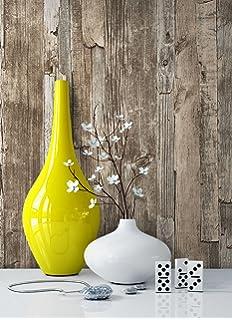 Holz Muster Tapete Vlies Braun Beige Edel | Schöne Edle Tapete Im Holzwand