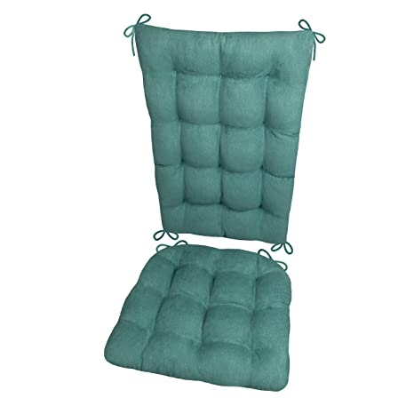 Awesome Rocking Chair Cushions Microsuede Turquoise Extra Large Reversible Latex Foam Filled Seat Pad And Back Rest Made In Usa Presidential Micro Uwap Interior Chair Design Uwaporg