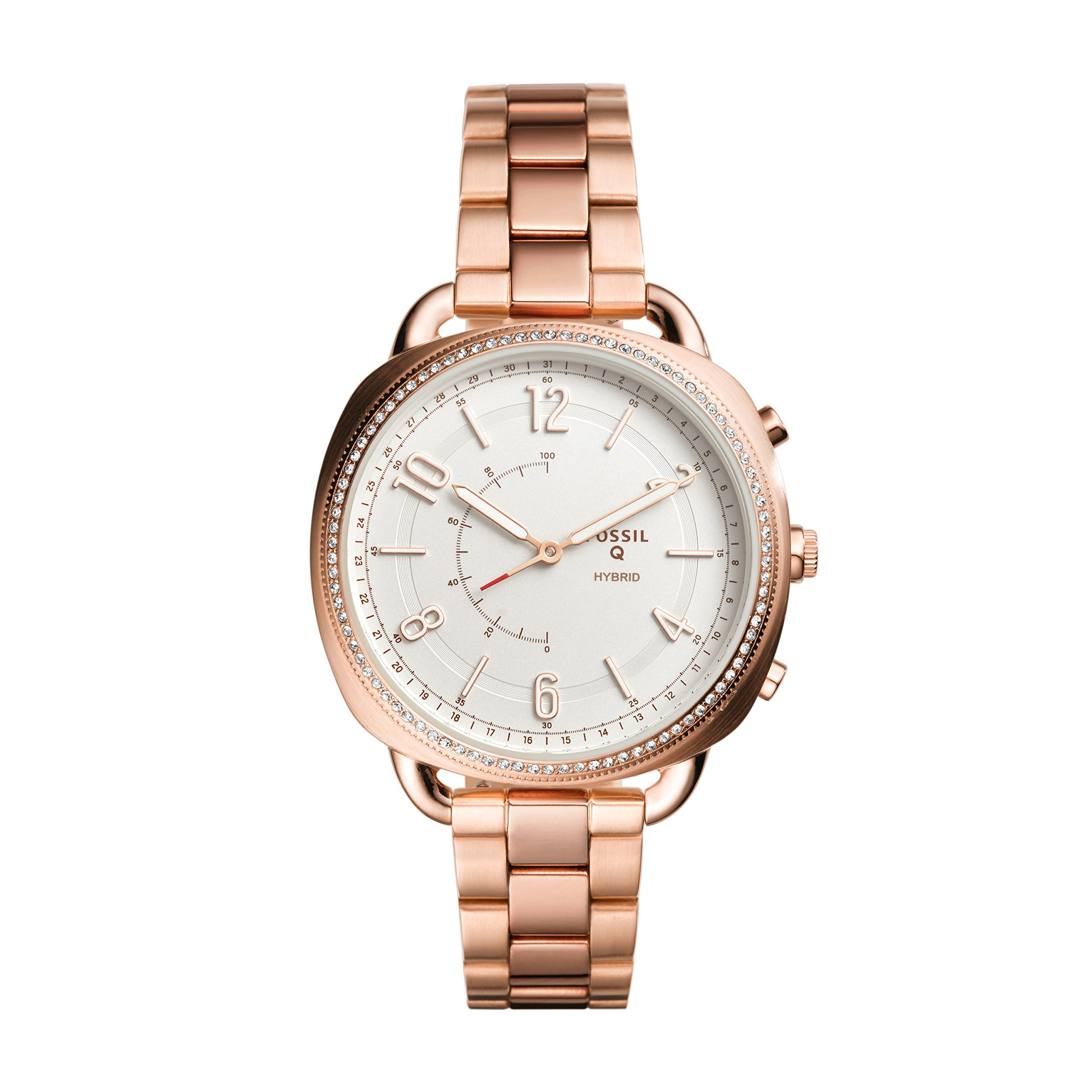 Fossil Women's Accomplice Stainless Steel Hybrid Smartwatch, Color: Rose Gold (Model: FTW1208) by Fossil