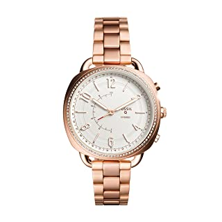 Fossil Women's Accomplice Stainless Steel Hybrid Smartwatch, Color: Rose Gold (Model: FTW1208)