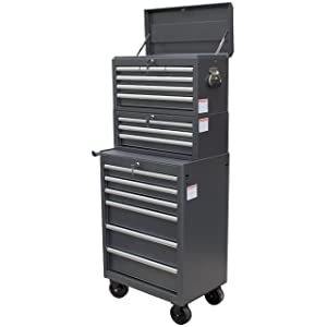 WEN 77026 26-Inch Tool Chest and Cabinet Combo, 3-Piece