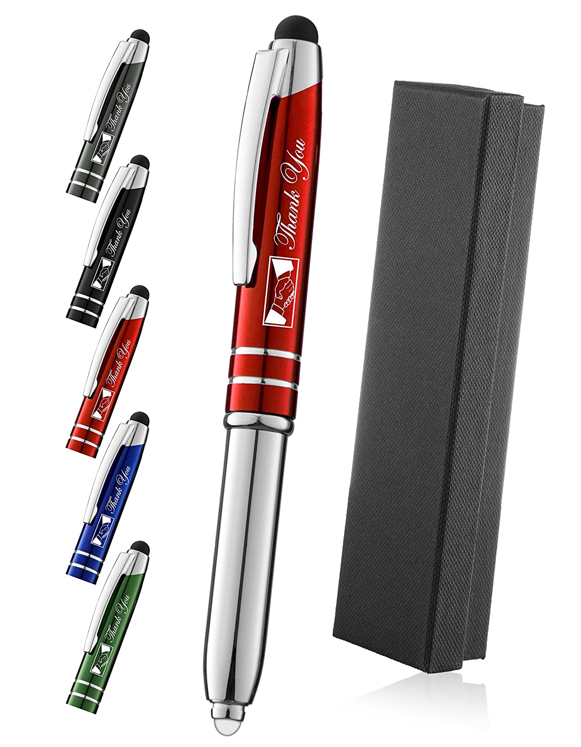Stylus Pen for Touch Screens with LED Flashlight and Pen Gunmetal Stylus WizGear/™ 3-in-1 Stylus Pen