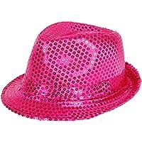 Alsino 'Chapeau de style trilby pailleté Idéal en complément d''un déguisement dans le cadre d''une soirée à thème'