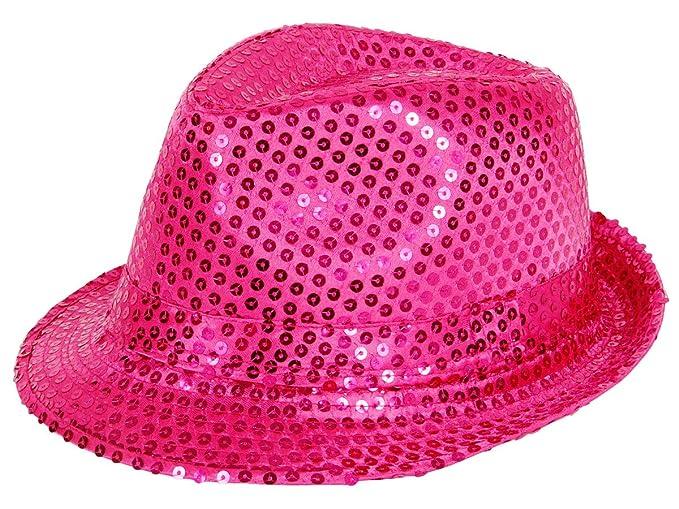 Cappello fedora borsalino di molti colori diversi con paillette clubstyle  discoteca popstar jazz blues lifestyle accessorio 8b44e2e22099