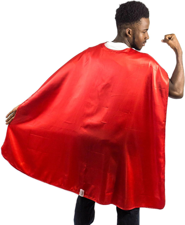 Everfan Adult Superhero Cape   Superhero Capes for Adults   Satin Costume Cape