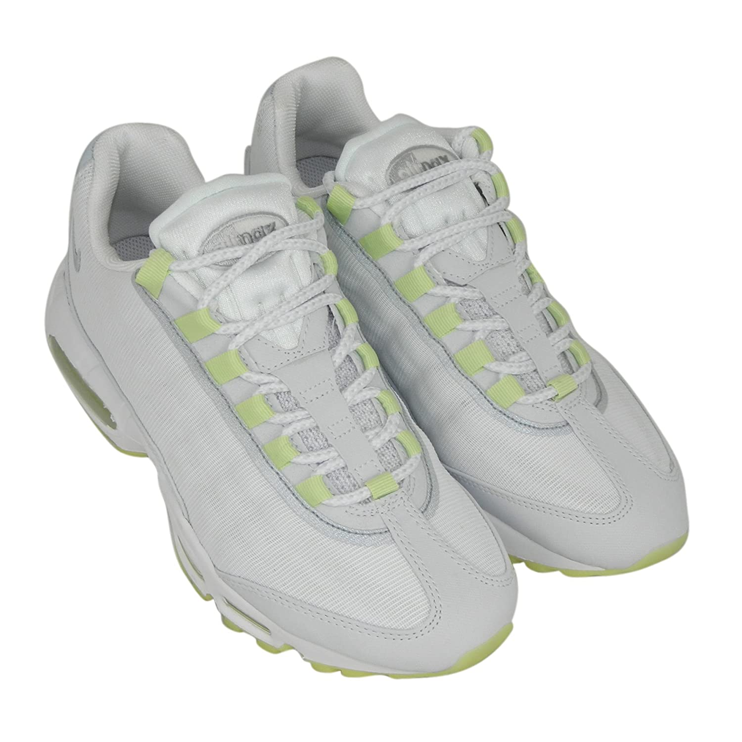 huge selection of db2fd e3db4 Nike Mens Air Max 95 Premium Tape White Glow In The Dark Trainer Size 11  UK  Amazon.co.uk  Shoes   Bags