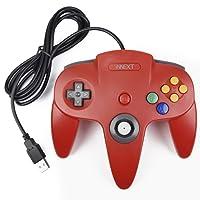 iNNEXT Retro N64 USB Controller N64 Gamepad Joypad Für PC MAC NEU Windows MAC Raspberry Pi 3 (Rot)