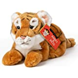 FAO Schwarz Tiger Cub Toy Plush 12 Inches, Ultra Soft and Snuggly Doll for Educational, Creative, and Imagination Play, for B