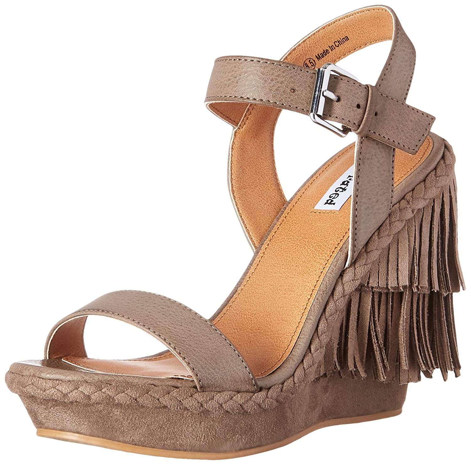 Not Rated Women's Roaring Ruby Wedge Sandal B01A2V558S 8 US/6-10 M US|Taupe