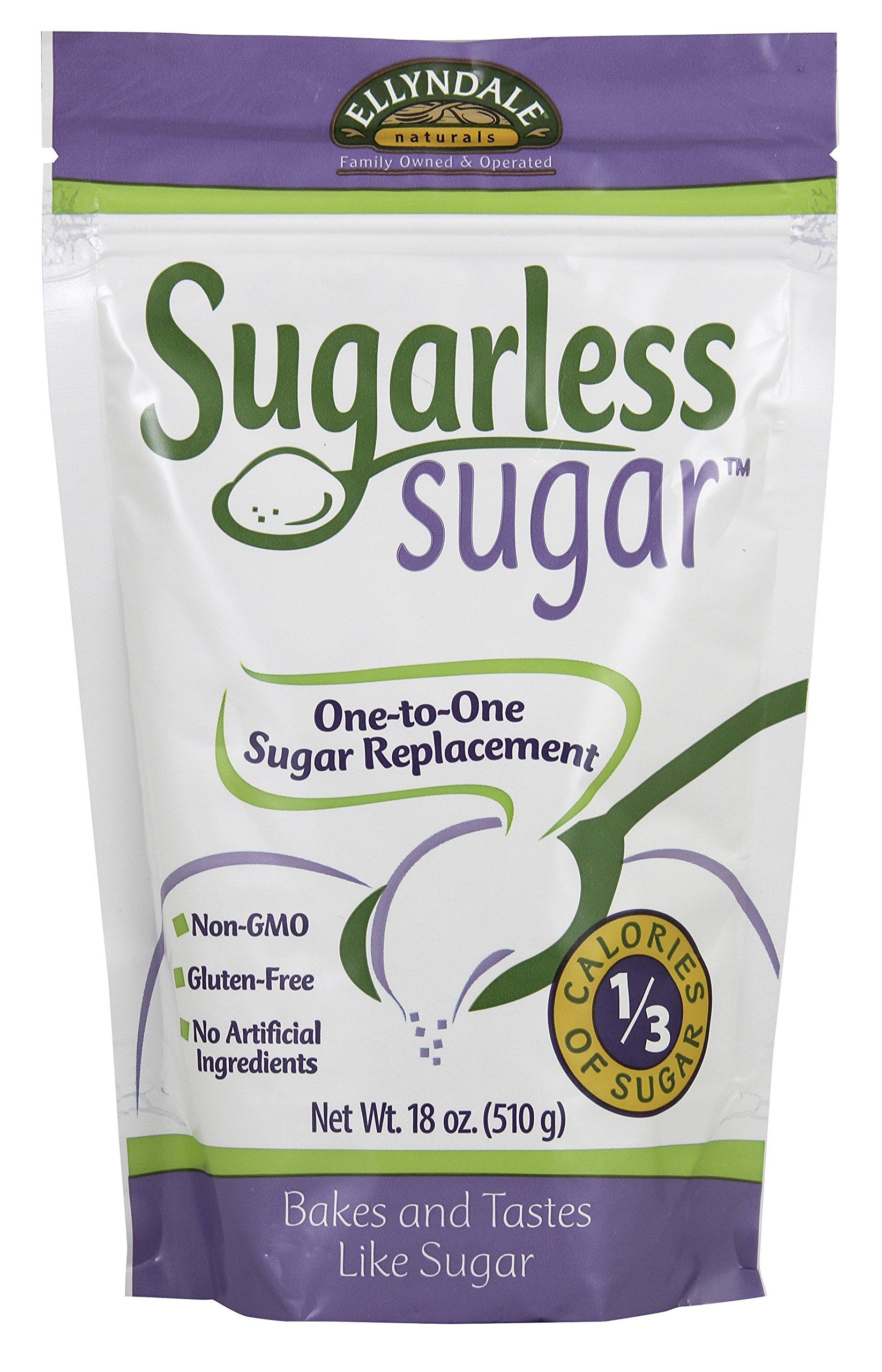 NOW Foods Ellyndale Sugarless Sugar, 1.15 Pound (Pack of 12)