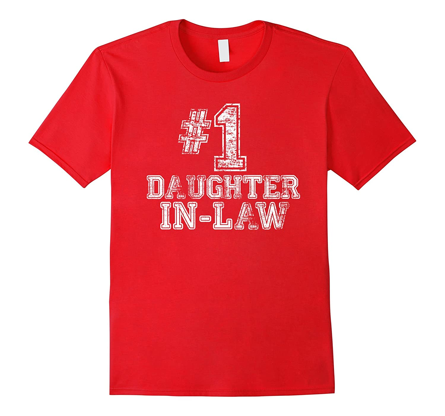1 Daughter-in-Law T Shirt -Number One Mothers Day Gift Tee-CD
