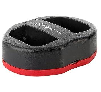 Baxxtar USB Dual Cargador Twin Port 1823/2 para la batería Canon LP-E6 LP-E6N a Canon XC10 XC15 EOS 80D 70D 60D 60Da 6D Mark I II 7D 7D Mark II 5DS 5D ...
