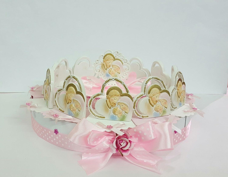 Torte Bomboniere Ikonen Heilige Familie Herz cm 6 auf Kuchen 12 Scheiben + Zentrale Taufe Kommunion Konfirmation