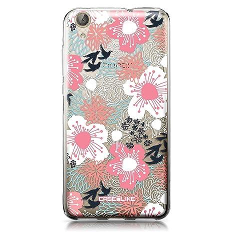 CASEiLIKE Funda Huawei Y6 II, Carcasa Huawei Y6 II/Honor Holly 3, flor japonesa 2255, TPU Gel silicone protectora cover