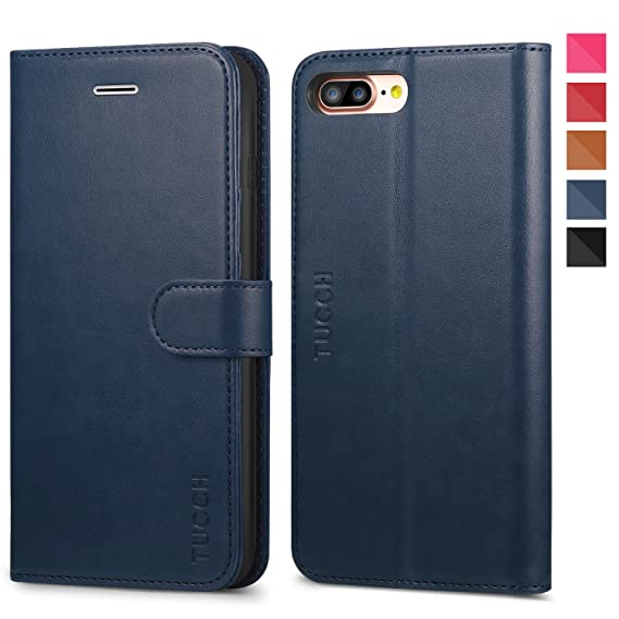 amazon com iphone 8 plus leather case, iphone 7 plus case, tucch 3