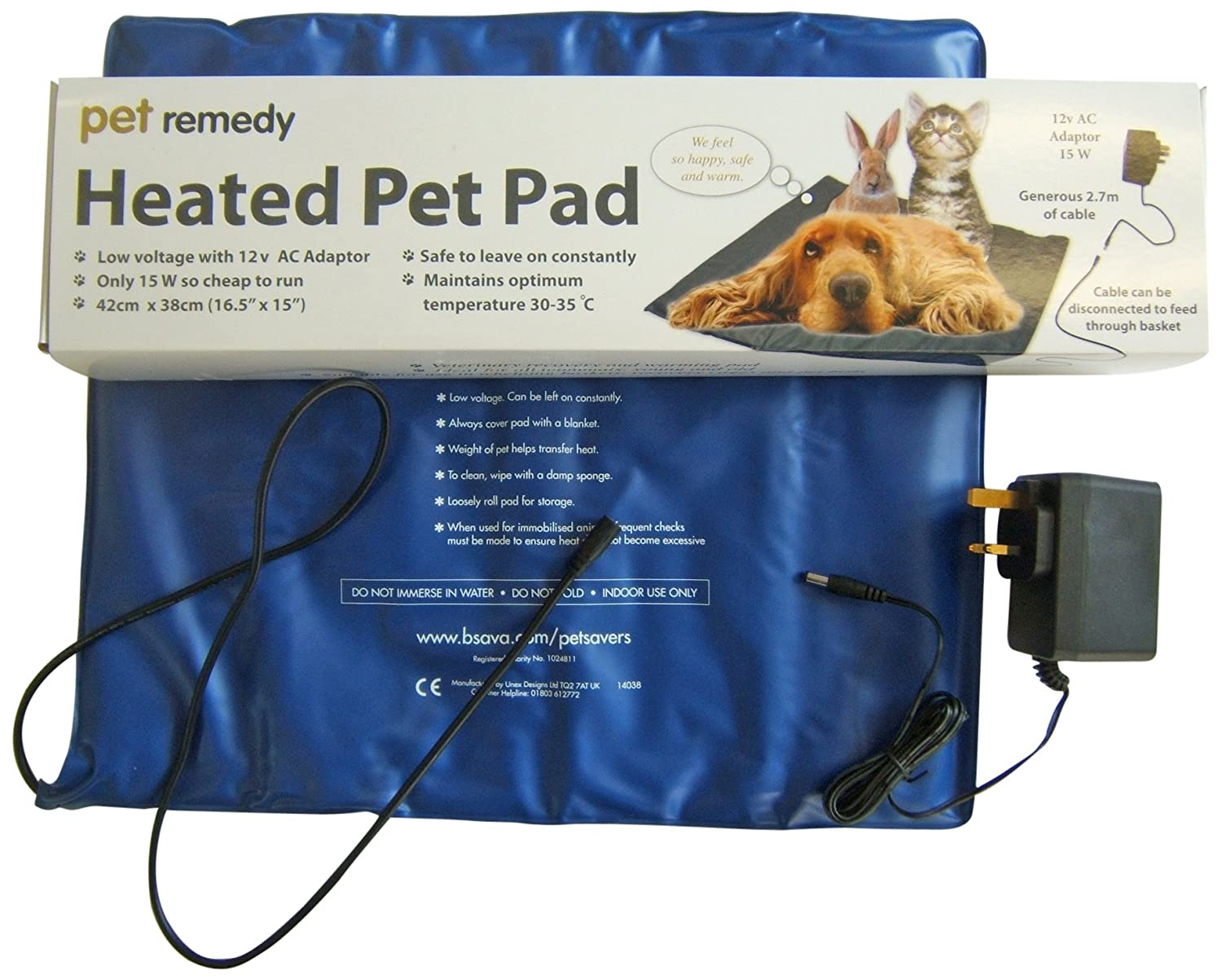 Pet Remedy Low Voltage Electrically Heated Pet Pad 9566