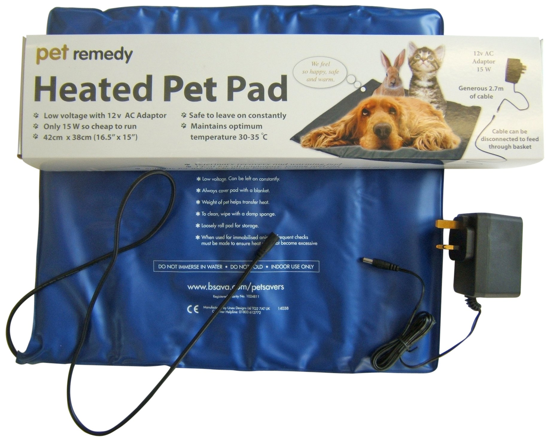 Pet Remedy Low Voltage Electrically Heated Pet Pad by Pet Remedy