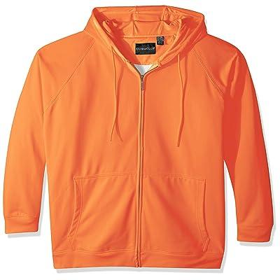 AquaGuard Men's Rugged Wear Thermal-Lined Full-Zip Hoodie, Bright Orange, Small at Men's Clothing store