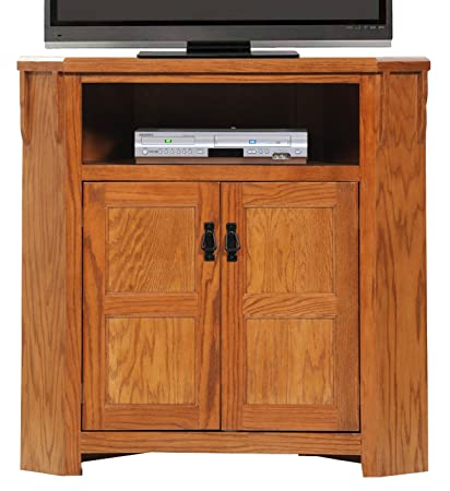Image Unavailable Image Not Available For Color American Heartland Oak Promo Tall Corner Tv Stand