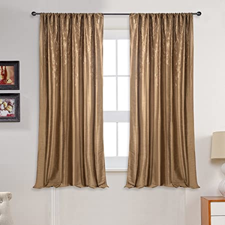 Deco Window Neera Polyester Window Curtain - 5 ft, Royal Brown Curtains at amazon