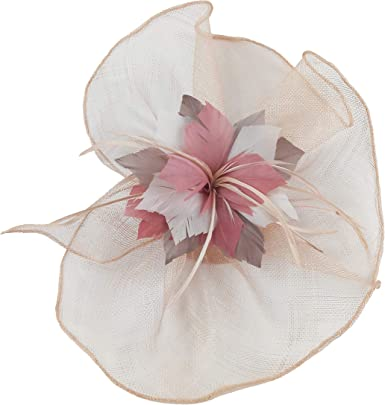 Ivory Sinamay Flower Jewel Headband Racing Millinery Fascinator