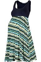 Beachcoco Women's Maternity Printed Light Weight Knee Length Tank Dress