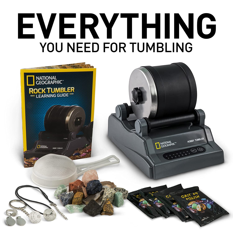 Amazon National Geographic Hobby Rock Tumbler Kit Toys Games