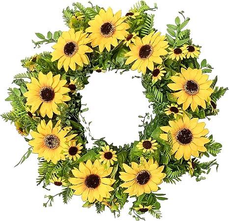 artificial flower wreath flower wreath wreath butterflies fern Floral wreath sunflowers wreath decoration wedding flower wreath