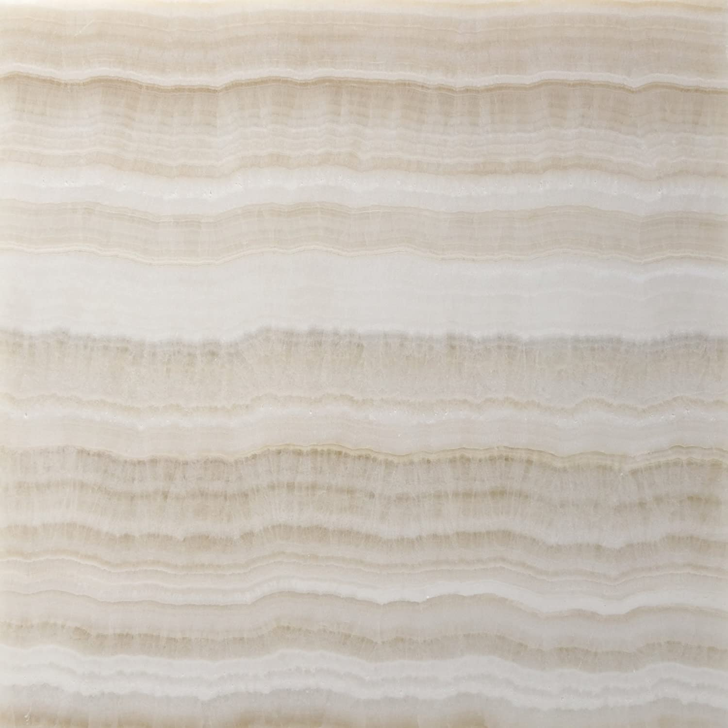 Premium White Onyx VEIN-CUT 12 X 12 Polished Tile - Box of 5 sq. ft ...