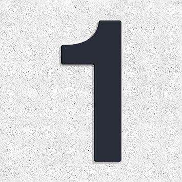 Hausnummer Anthrazit thorwa design v2a edelstahl hausnummer 1 feinstruktur beschichtet